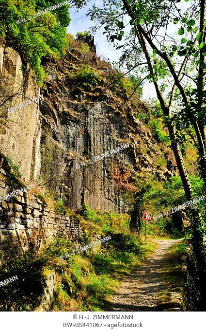 rock wall in valley Ahrtal, Germany, Rhineland-Palatinate, Ahrtal