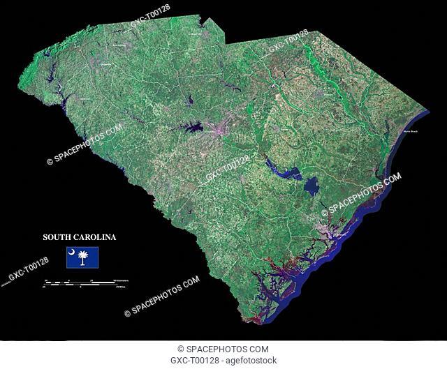 This image was created using Landsat Orthorectified ETM+ Pan-Sharpened data, and draped with National Elevation Dataset data