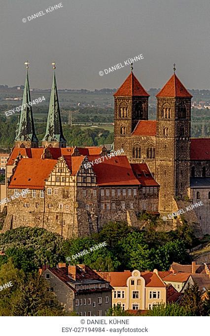 overlooking the quedlinburger schloss