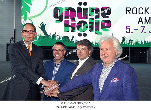 Carsten Schumacher, manager of Nuerburgring CapricornGmbH (L-R), Stuart Galbraith (CEOKilimanjaro Live), Peter Schwenko (CEODeutsche Entertainment AG) and...
