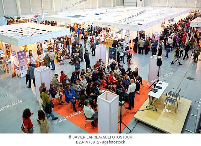 Bioterra, fair of organic products, green building, renewable energy and responsible consumption, Ficoba, Irun, Gipuzkoa, Basque Country, Spain