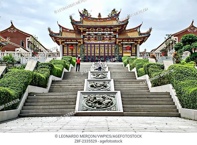 Stairs to the temple Alto de Coloane in Macau, China