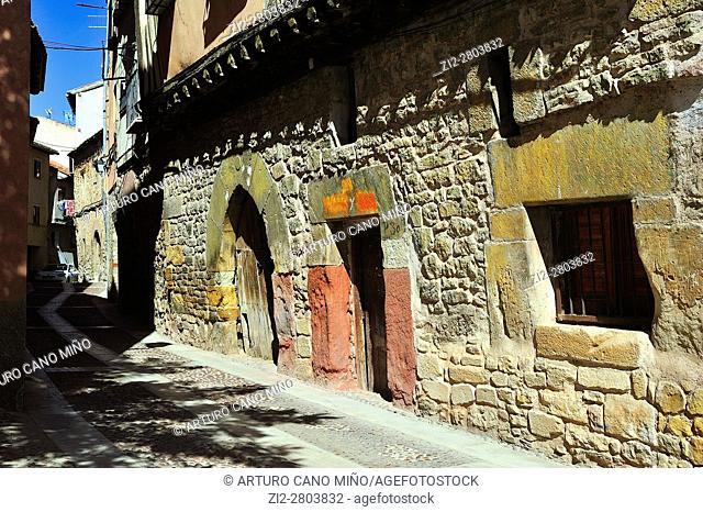 Traditional architecture. Molina de Aragón, Guadalajara province, Spain
