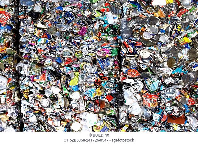 Recycling bail ready to be processed