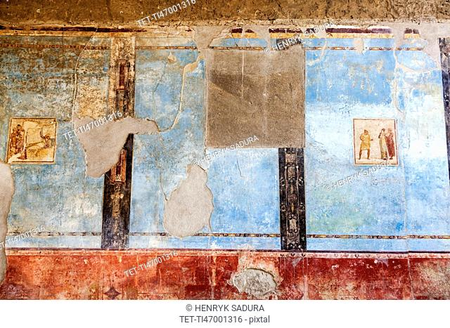 Ancient fresco on wall
