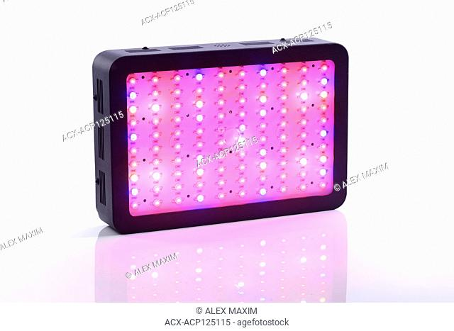 Full-spectrum LED grow light for indoor plant vegetative and flowering growth emiting red, blue, UV and IR spectrum