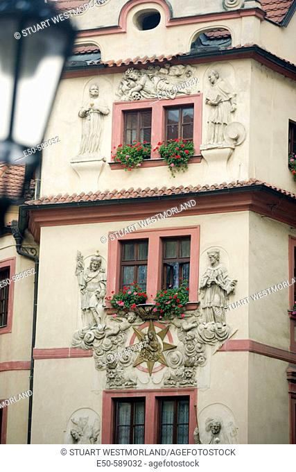 Building details near Old Town Bridge Tower, Prague, Czech Republic