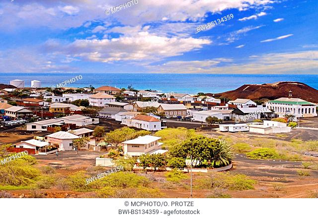 Georgetown the main town on Ascension Island, Saint Helena