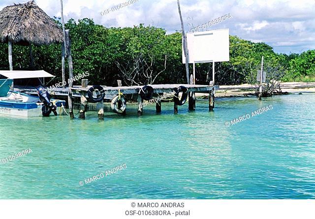 cancun mexico blue clean water of beach