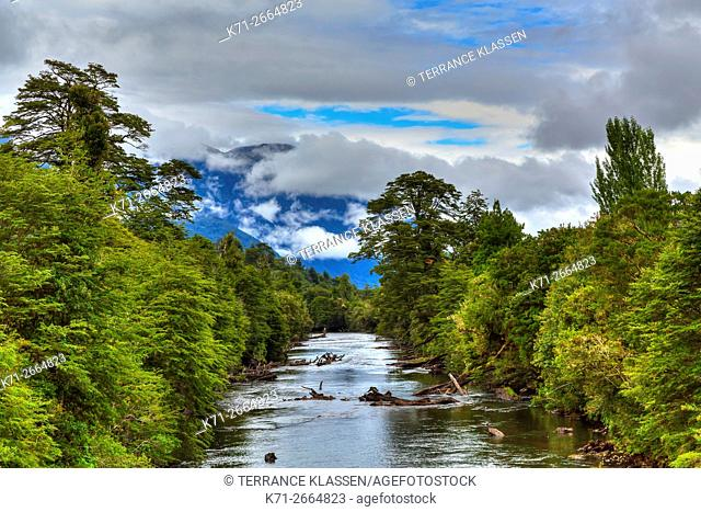 The Simpson River in the Rio Simpson National Reserve, Chile, South America