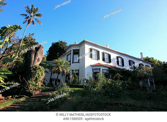 Old house at Botanical Gardens, Funchal, Portugal, Europe
