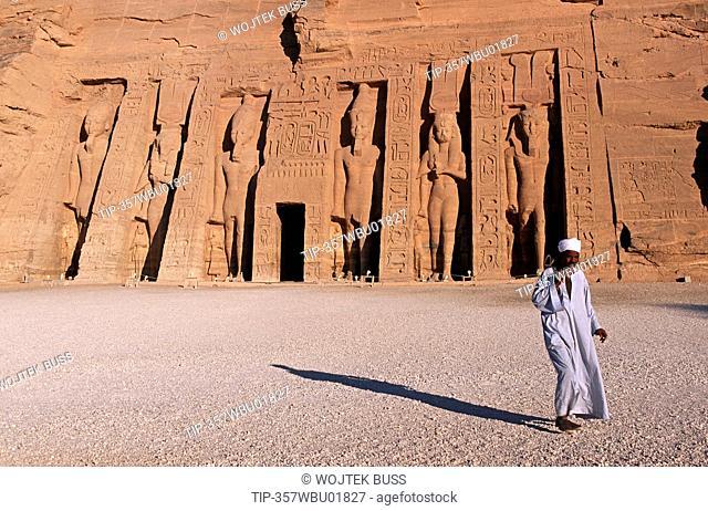 Egypt, Abu Simbel, the temple of Nefertari dedicated to Hathor