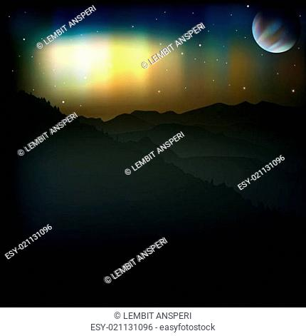 abstract background with aurora borealis