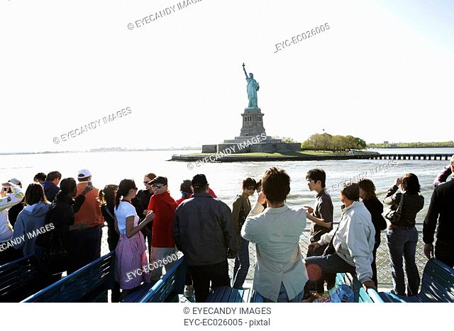 Group of people on a ferry