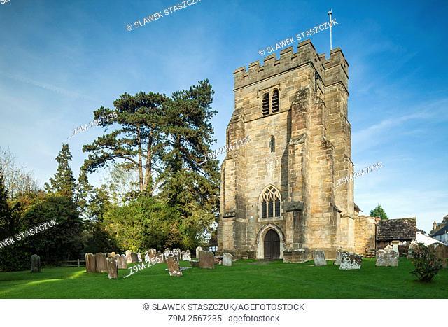 St Mary Magdalene's church in Rusper village near Horsham, West Sussex, England. Autumn afternoon
