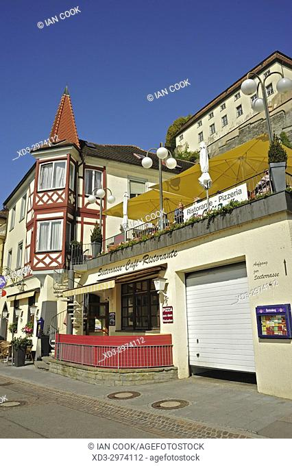 traditional architecture, Meersburg, Baden-Württemberg, Germany