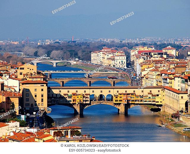 Ponte Vecchio - beautiful old bridge in Florence, Tuscany, Italy