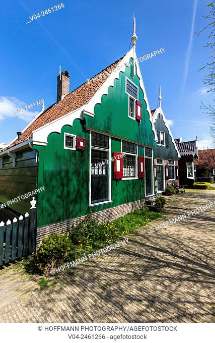 Traditional house in the historic village of Zaanse Schans, The Netherlands, Europe