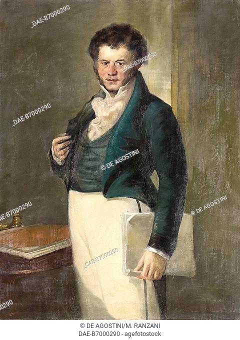 portrait of the italian sculptor giuseppe sartorio by  portrait of stendhal 1783 1842 french writer oil on canvas by