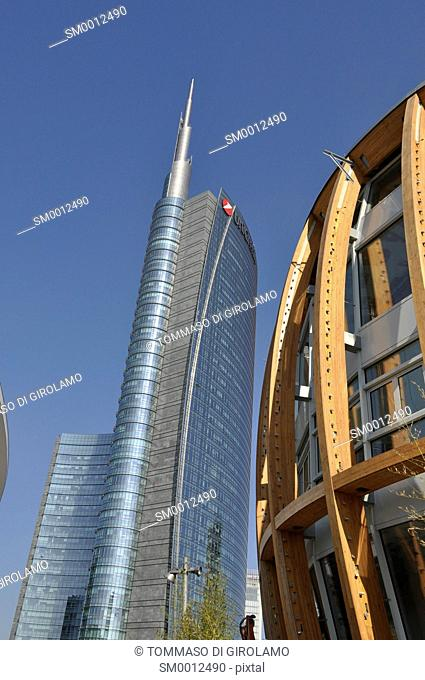 Milan, new building, Garibaldi area