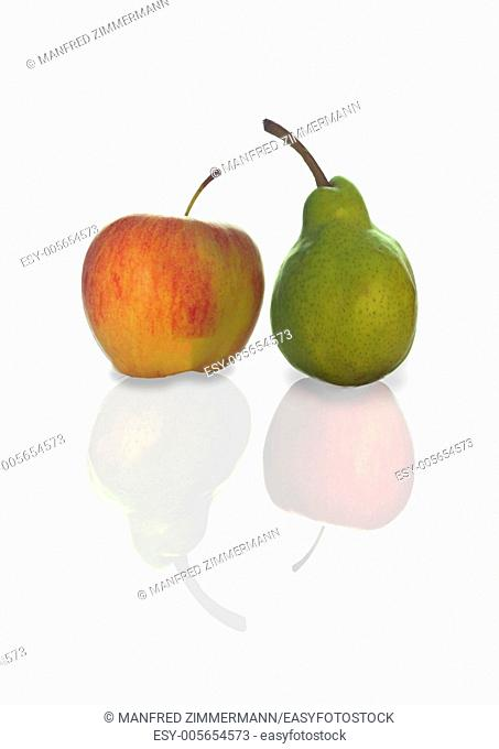 Compare symbol of apple and pears