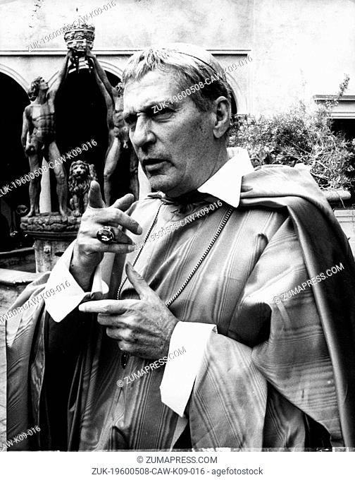 May 8, 1960 - Location Unknown - PETER FINCH (1916-1977) was an award winning British born Australian Actor. He is well known for his crazed role as Howard...