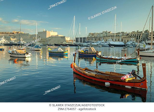 Sunrise at Vittoriosa Yacht Marina, Malta