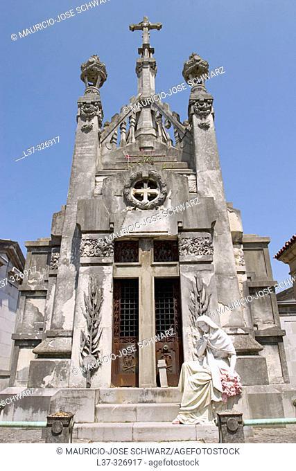 Mausoleum at Sucu-Ceares cemetery. Gijón. Asturias, Spain