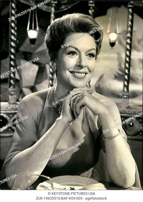 May 16, 1962 - Here is a picture of actress Madeleine Robinson as she appears in the movie 'The Gentleman from Epsom' (Credit Image: © Keystone Press...