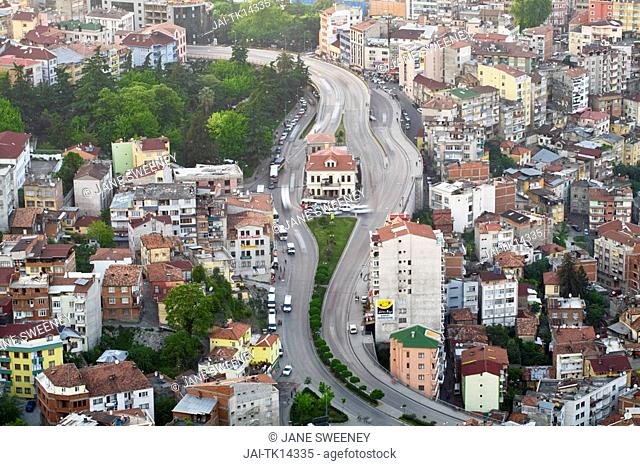 Turkey, Trabzon, View of city from Bostepe