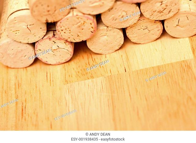 Stack of Wine Corks