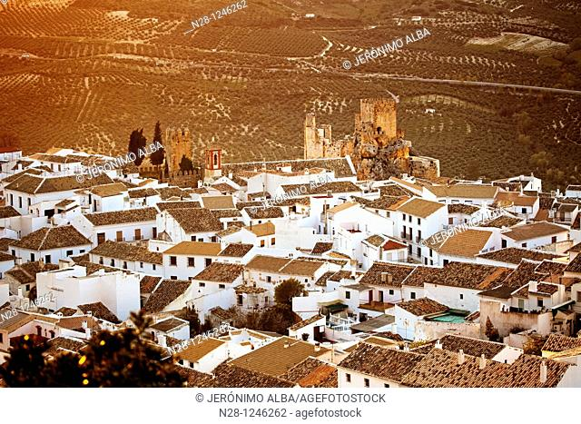 Castle and village of Zuheros. Cordoba, Andalusia, Spain