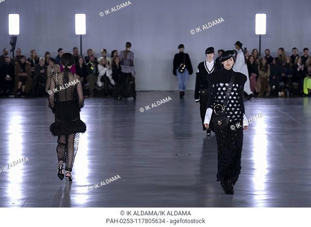 BALMAIN runway show during Paris Fashion Week, AW19, Autumn Winter 2019 collection - Paris, France 01/03/2019   usage worldwide. - Paris/France