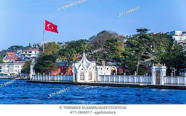 A coastal village and settlement on the Bosphorus near Istanbul, Turkey