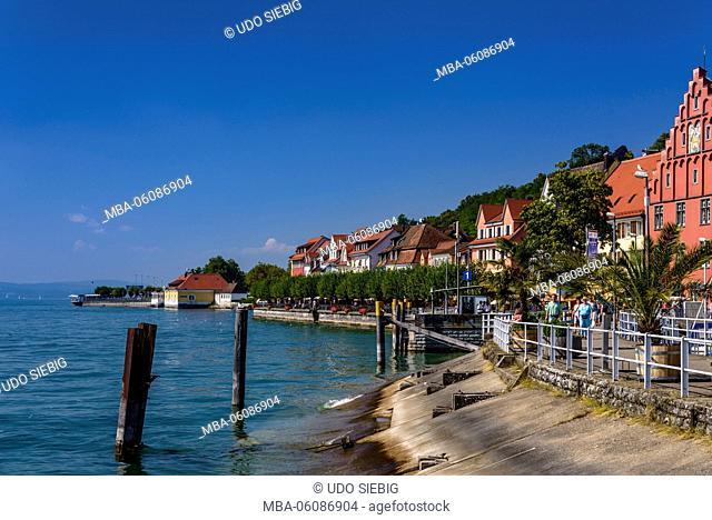 Germany, Baden-Wurttemberg, Lake Constance, Meersburg, lakeside promenade
