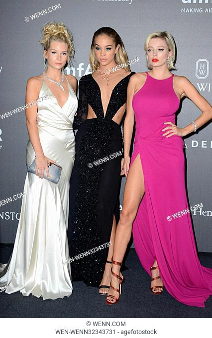 Milan Fashion Week - amfAR Gala - Arrivals Featuring: Lottie Moss, Jasmine Sanders, Caroline Vreeland Where: Milan, Italy When: 22 Sep 2017 Credit: WENN