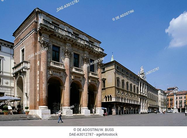 Palazzo or loggia del Capitaniato, 1572, in Piazza dei Signori, by Andrea Palladio (1508-1580), Vicenza (UNESCO World Heritage List, 1994), Veneto