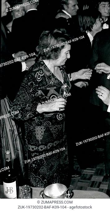 Feb. 02, 1973 - Countess Edda Ciano, daughter of the late Duce of the Fascism and widow of the executed ex-Foreign Minister Galeazzo Ciano during the Fascist...