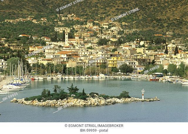 View of Methana, Chersonissos peninsula, Argolis, saronian gulf, Greece