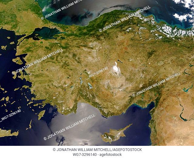 EARTH Eastern Mediterranean -- 2005 -- Turkey, Greece, Cyprus, Syria and Lebanon are featured in this MODIS image -- Picture by Lightroom Photos / NASA