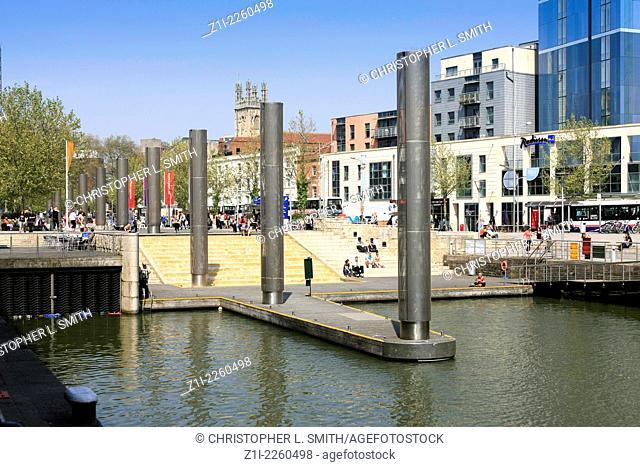 Bristol City Centre Ferry Landing area in the Marina district