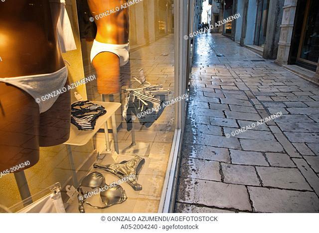 Street in the old Diocletian's Palace,Split, Dalmatia, Croatia,