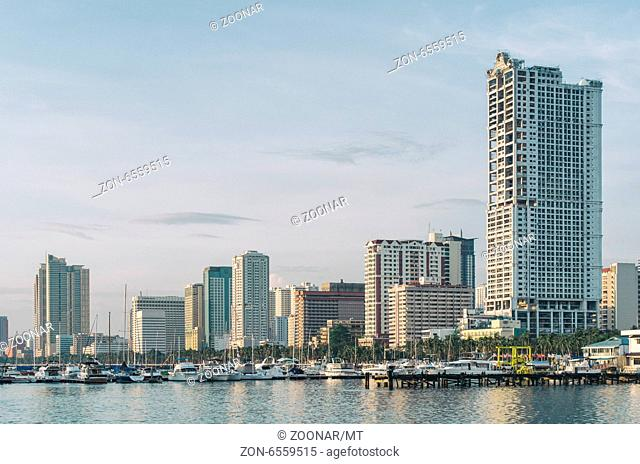 skyline of Manila bay in philippines