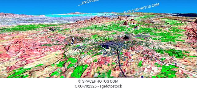 Perspective View with Landsat Overlay: Bhuj