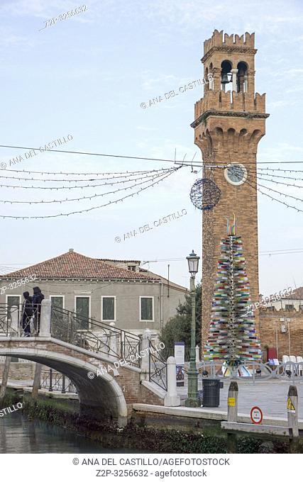 Murano island Venice, Veneto, Italy: The clock tower