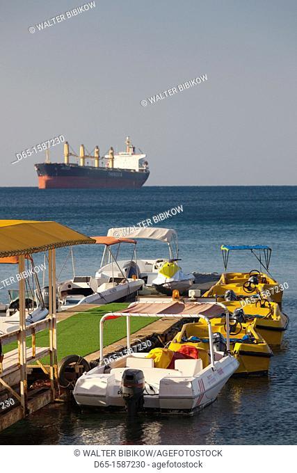 Israel, The Negev, Eilat, Eilat Marina, morning