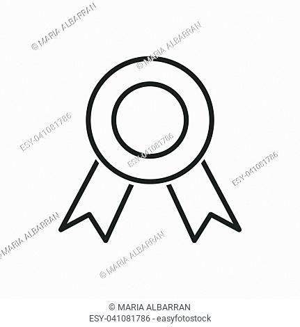 Medal line icon on a white background. Vector illustration