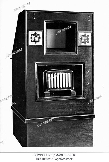 Historic photograph, Telefunken television vhf, around 1930