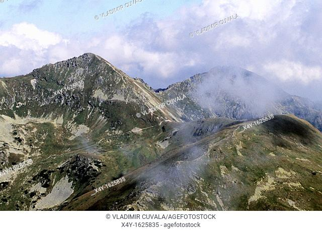 View of Rohace mountain range, western part of High Tatras National Park, Slovakia