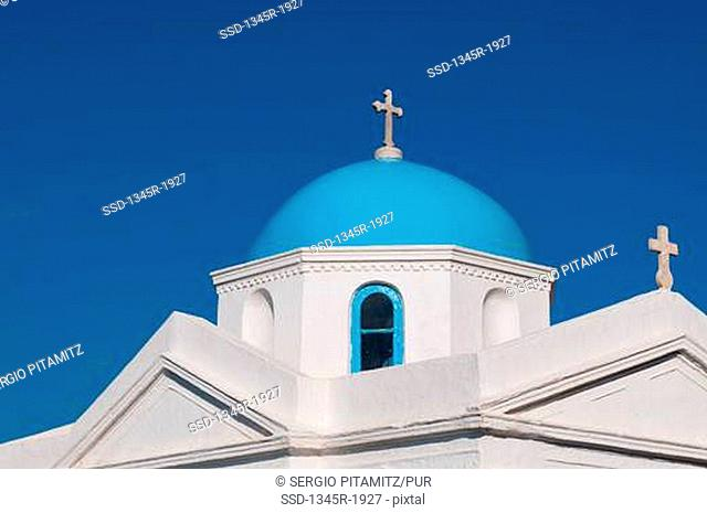 Low angle view of a church, Mykonos Town, Mykonos, Cyclades Islands, Greece